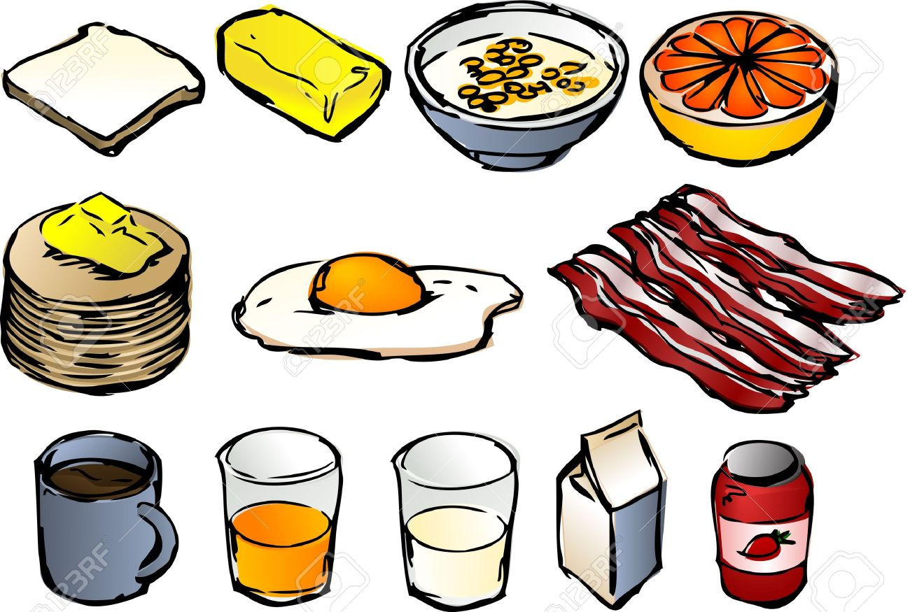 1300x875 Breakfast Clipart Illustrations, Vector, 3d Isometric Style