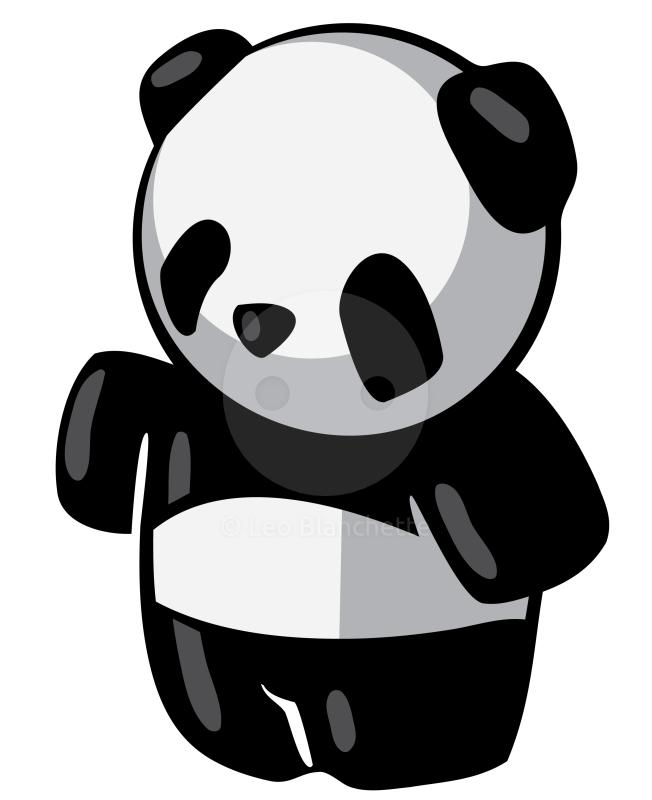 652x800 Clipart Illustration Of Cute Black And White Panda Bear Image