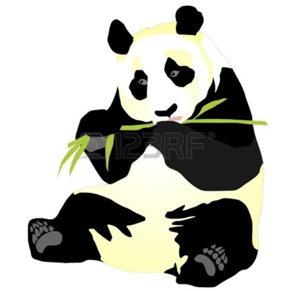 600x600 Free Panda Bamboo Clipart Image