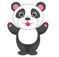 195x191 Free Panda Clipart