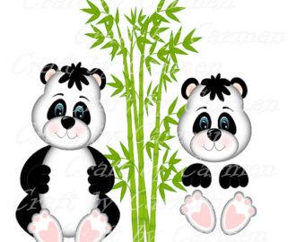 340x270 Panda Clip Art Etsy