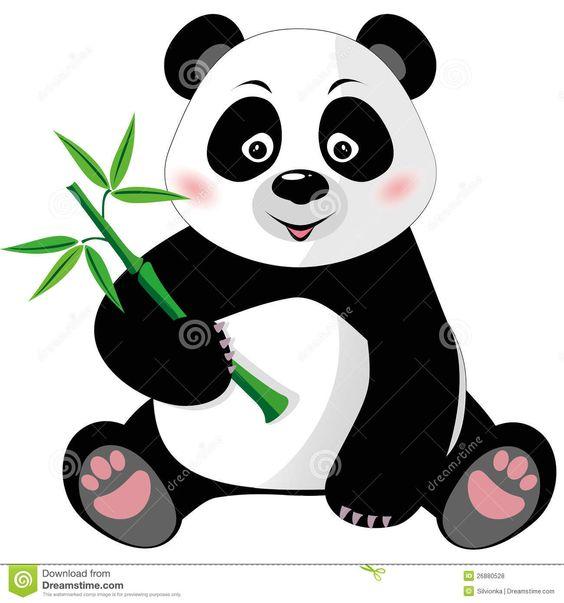 564x603 Panda Bear Clipart