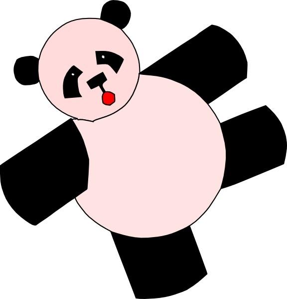 576x599 Cartoon Panda Bear Clip Art Free Vector In Open Office Drawing Svg
