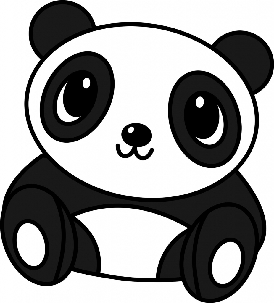 926x1024 Drawing A Panda Bear