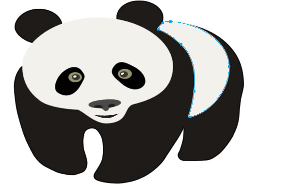 600x380 Drawn Panda Outline