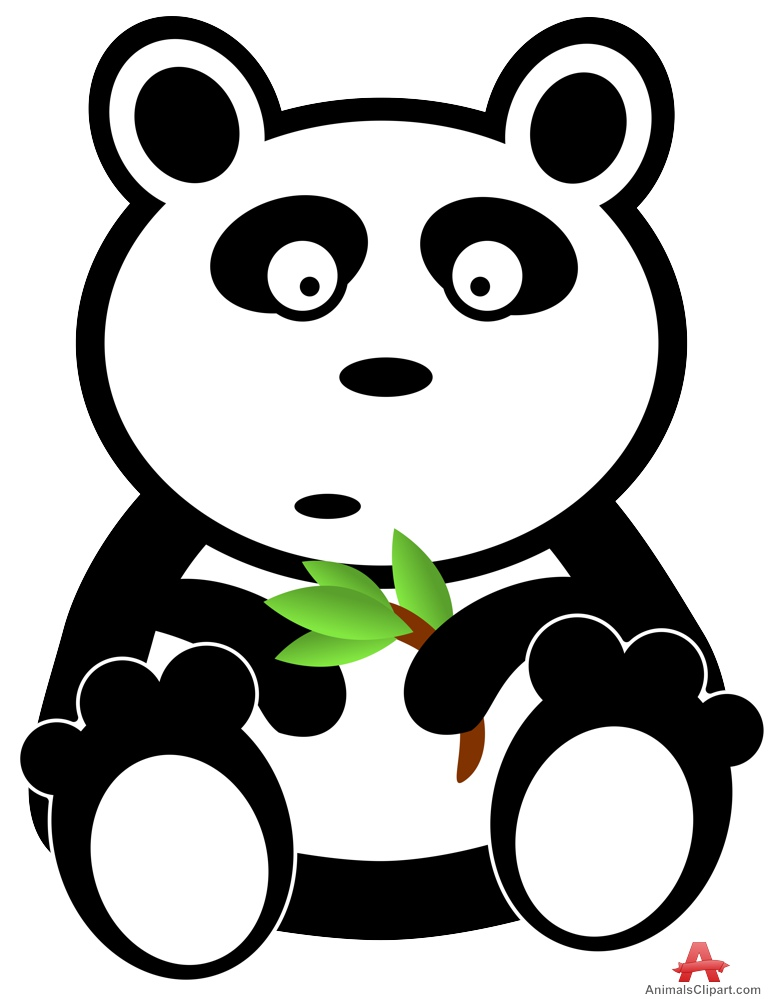 768x999 Panda Bear Clipart With Branch In Hand Free Clipart Design Download