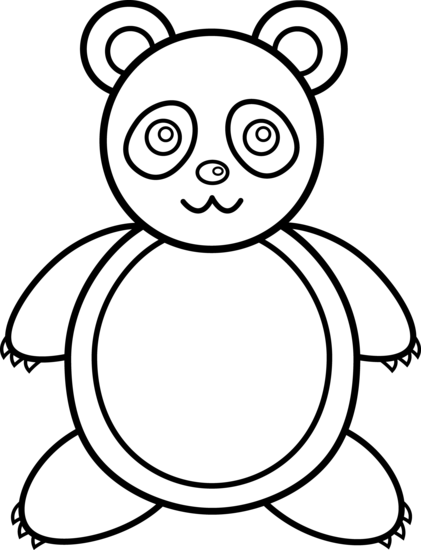 421x550 Panda Bear Outline China Panda, Bears And Clip Art