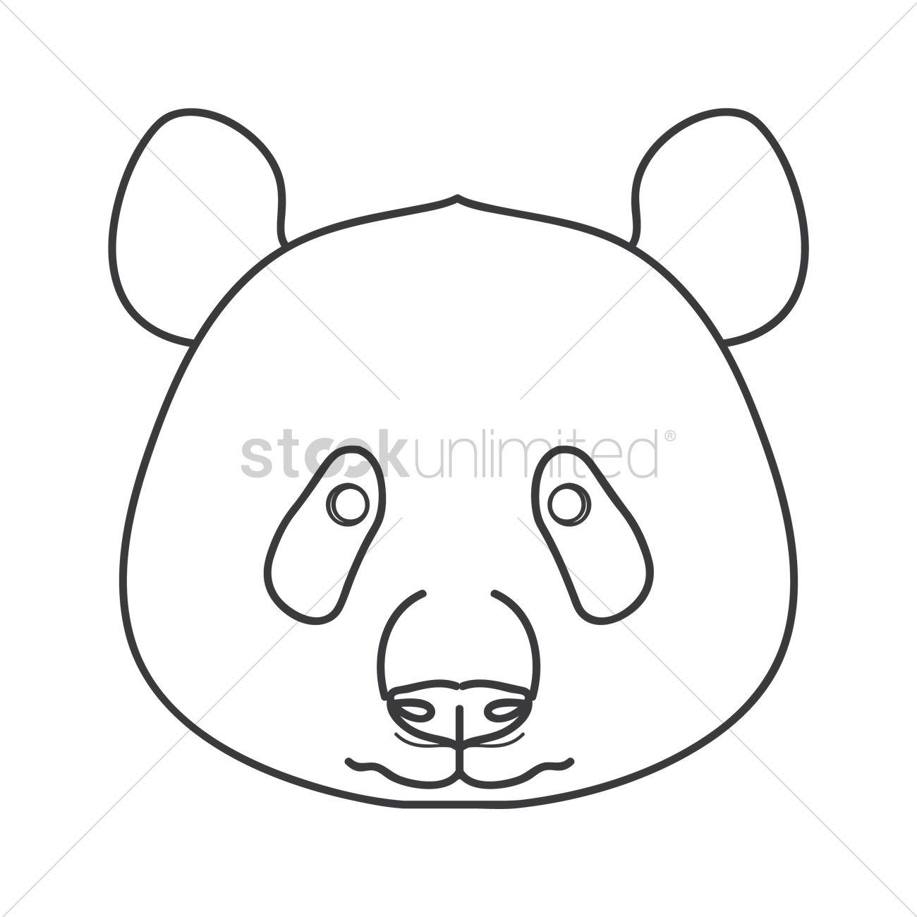 1300x1300 Panda Bear Vector Image