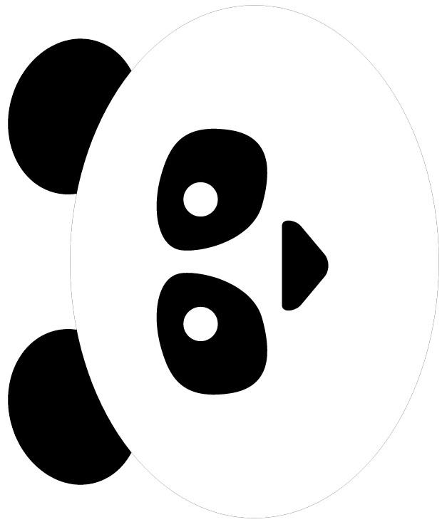 627x733 Tissue Paper Panda Bear