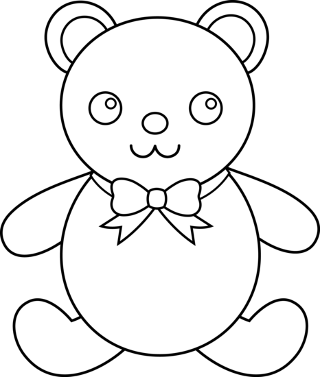 466x550 Bear Outline Clipart