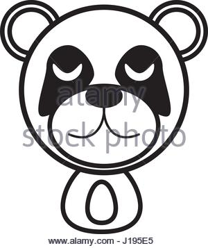 300x357 Beautiful Face Of A Giant Panda Bear Up Clsoe Stock Photo, Royalty