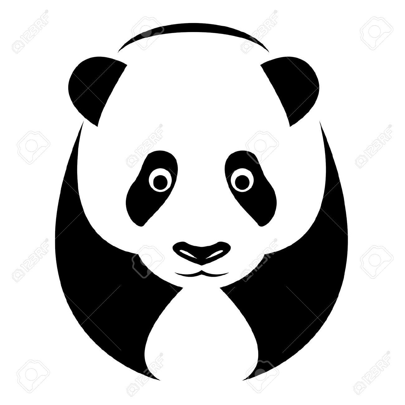 1300x1300 Face Clipart Panda Bear