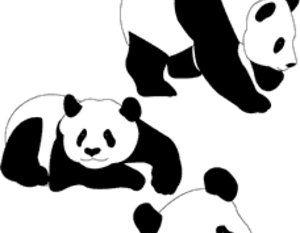 300x233 Panda Bear Silhouette Vector Art Free Vectors Ui Download