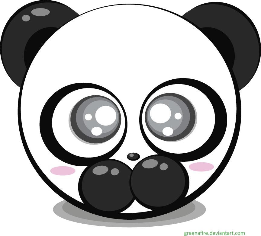 864x782 Panda Bear Vector By Greenafire