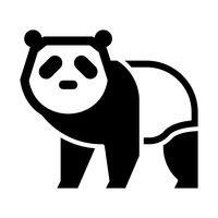 200x200 Panda Vector Image