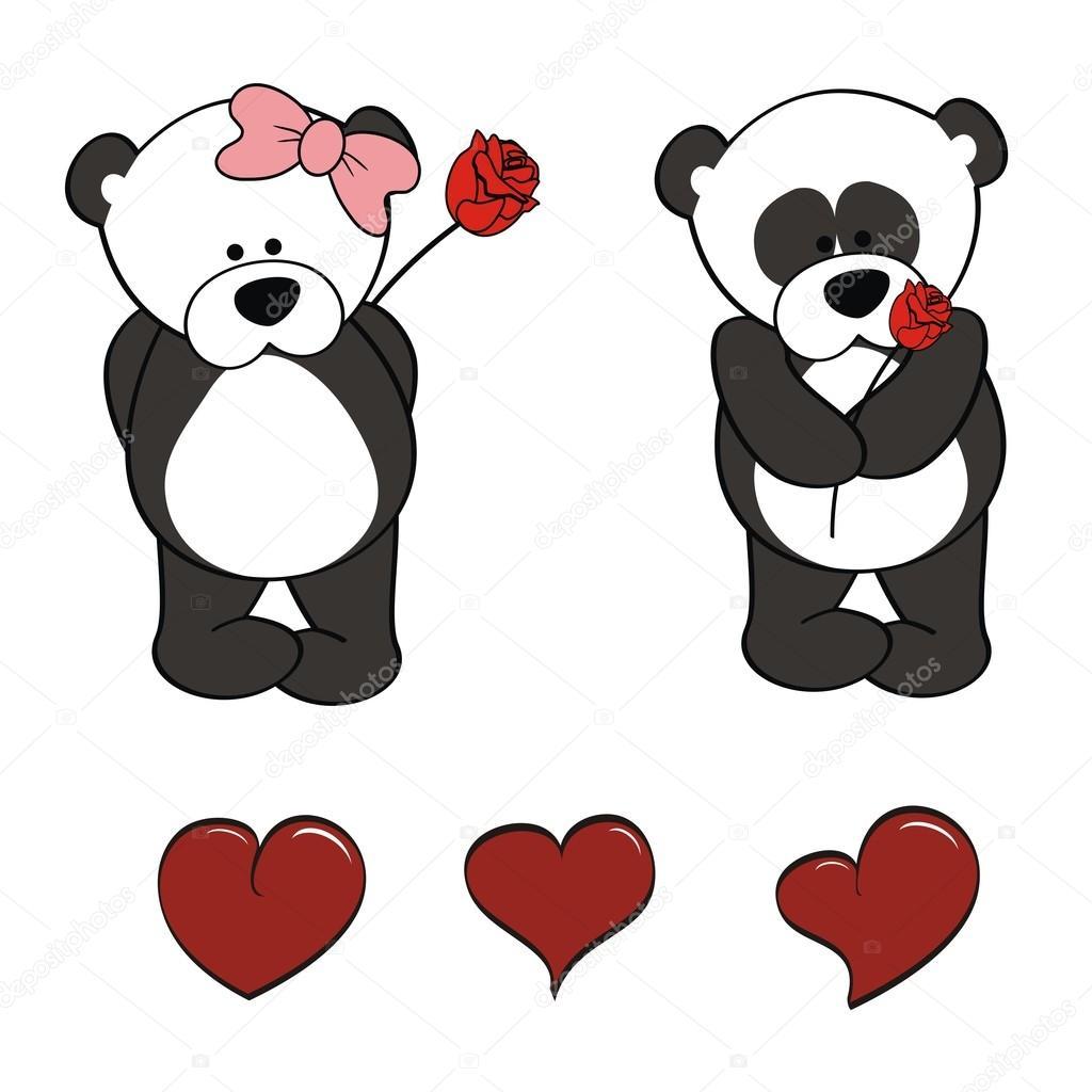 1024x1024 Panda Bear Baby Cute Cartoon Set Stock Vector Hayashix23