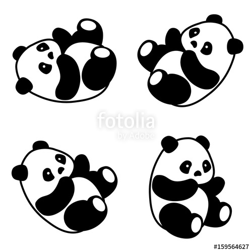 500x500 Panda bear vector Stock image and royalty free vector files on