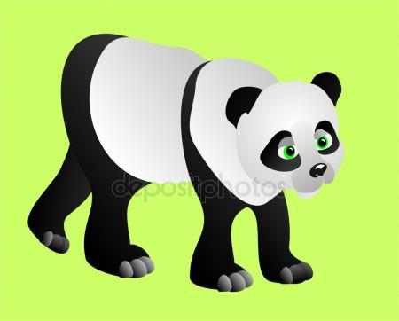 450x362 Panda Bear. Vector Illustration Stock Vector Marina99