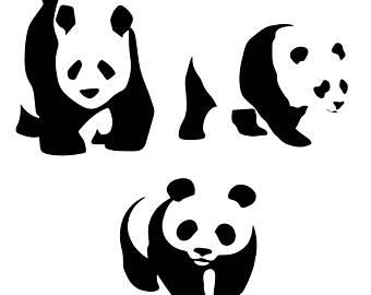 340x270 Panda Silhouette Etsy