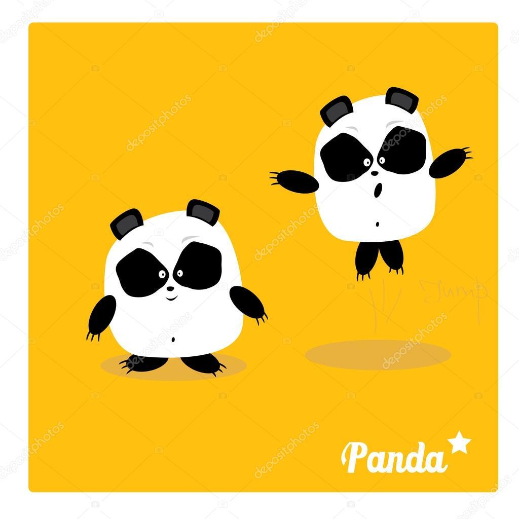 1024x1024 Vector Cartoon Panda Bear Character Stock Vector Zm1ter