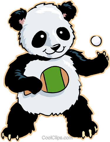 374x480 Panda Bear Royalty Free Vector Clip Art Illustration Vc008816