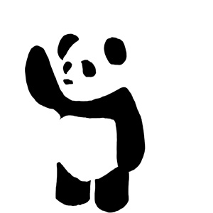 300x300 Panda Vector By On @