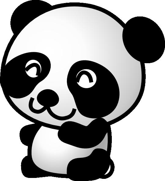 540x593 Panda 7 Clip Art