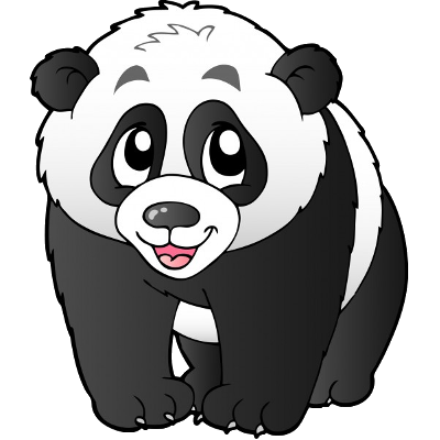 400x400 Panda Bear Cartoon Clipart