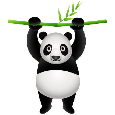 400x400 Panda head clipart free images 3