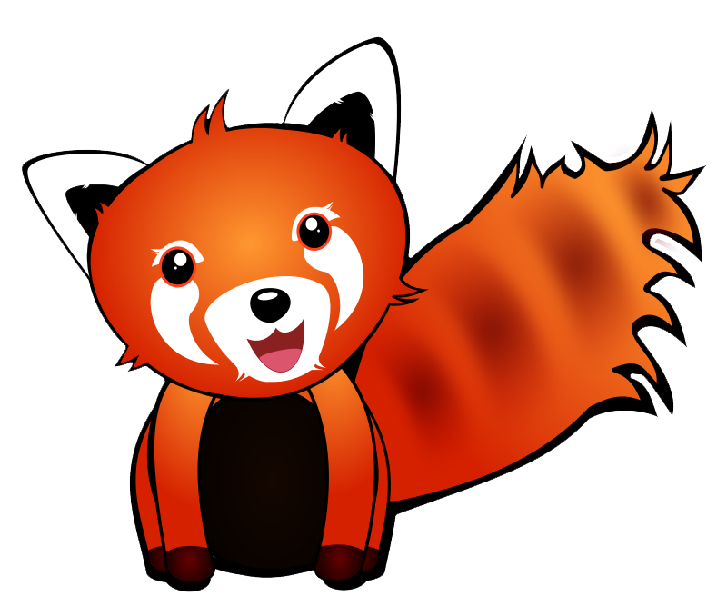 800x678 Red Panda Clipart 3