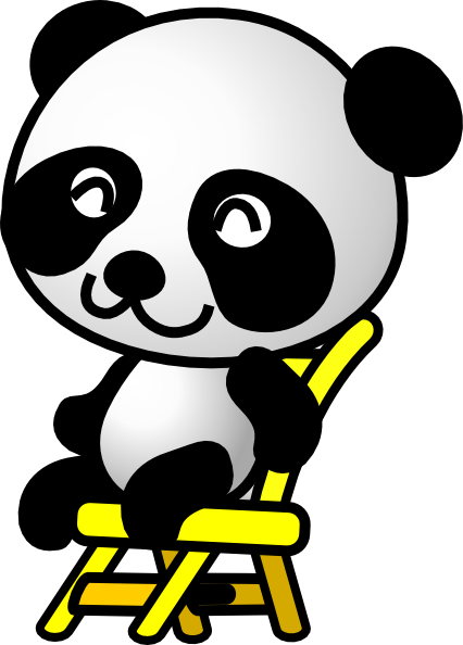426x594 Sitting Panda Bear Clip Art