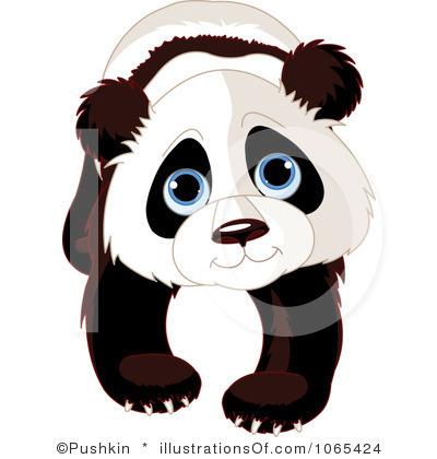 400x420 baby panda clipart