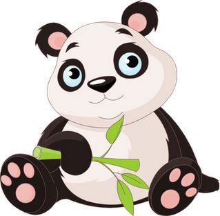319x313 panda bear clipart
