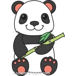 300x300 Clip Art Panda