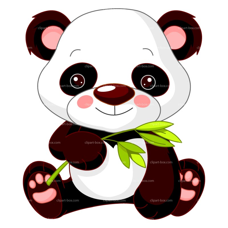 800x800 Free Panda Bamboo Clipart Image