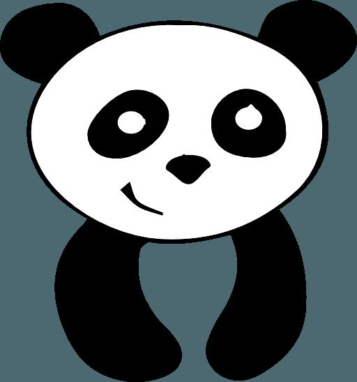 512x547 Free Panda Head Clipart Image