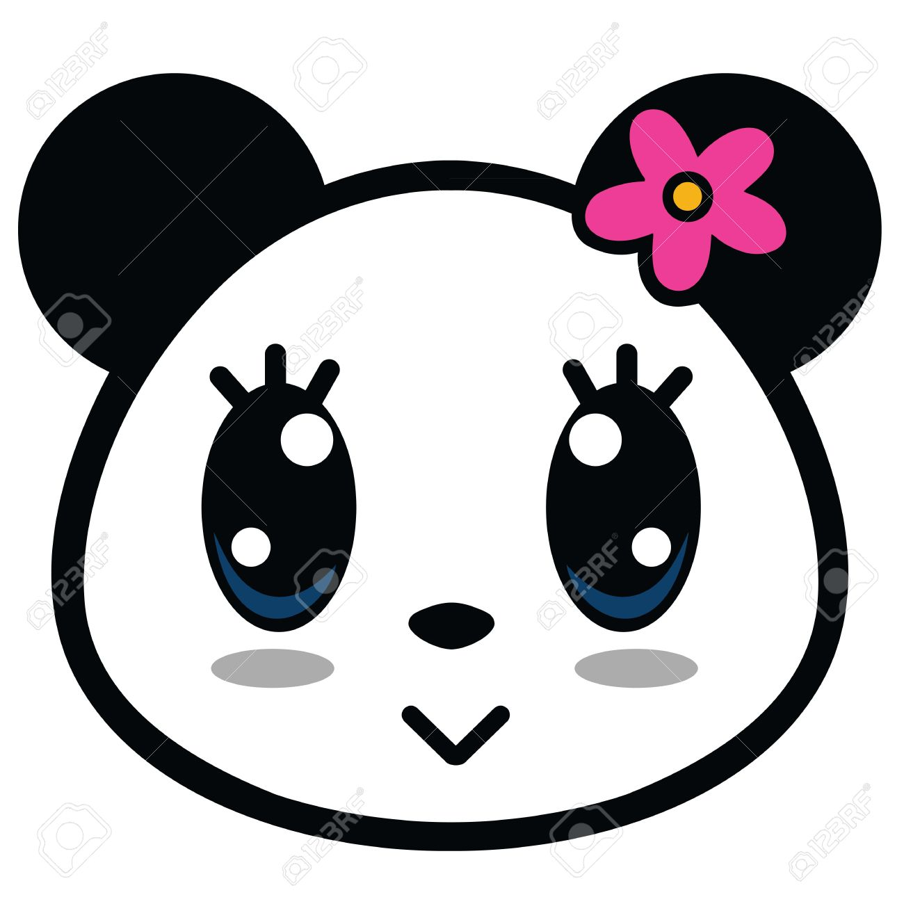 1300x1300 Panda clipart big eye
