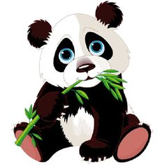 236x236 cute baby panda saying hi clipart