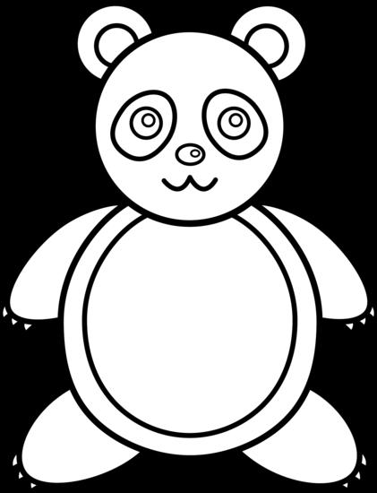 421x550 Panda Bear Line Art