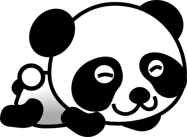 600x441 Clip Art Panda