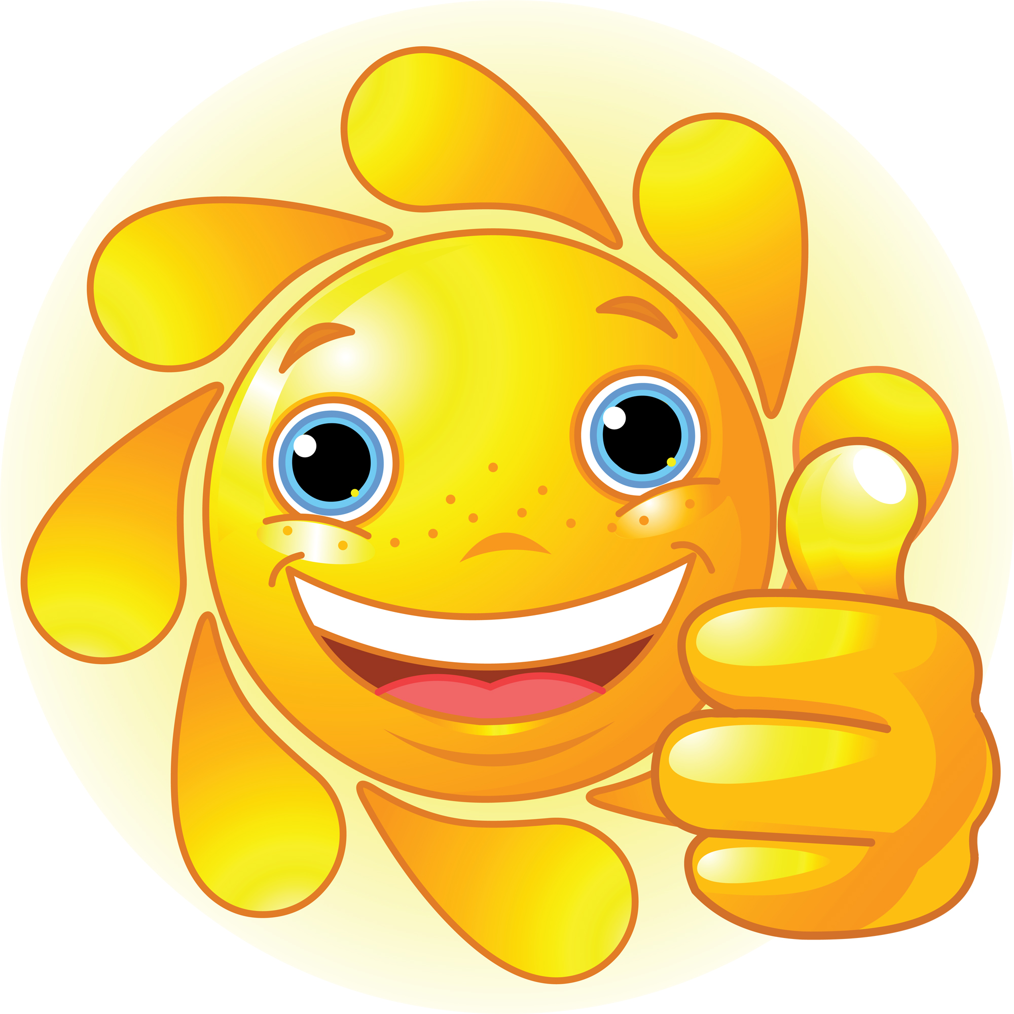 2000x2000 Clip Art Smiling Sun Clipart