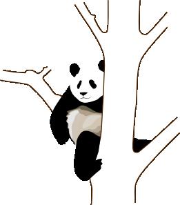 261x297 Panda On A Tree Clip Art