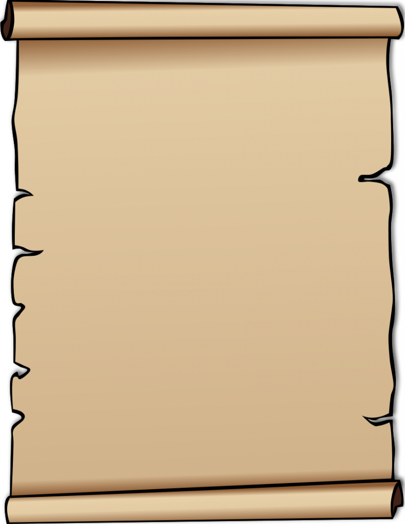 791x1024 Scroll Clip Art