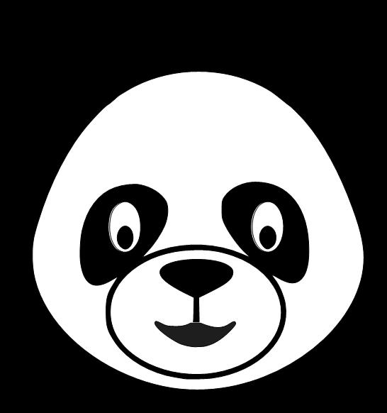 546x582 Cute Panda Head Clipart Free 5