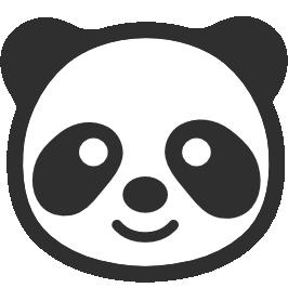 266x266 Emoji Android Panda Face