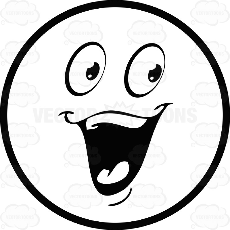 800x800 Excited Happy Face Clipart