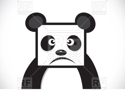 400x288 Panda cartoon face Royalty Free Vector Clip Art Image