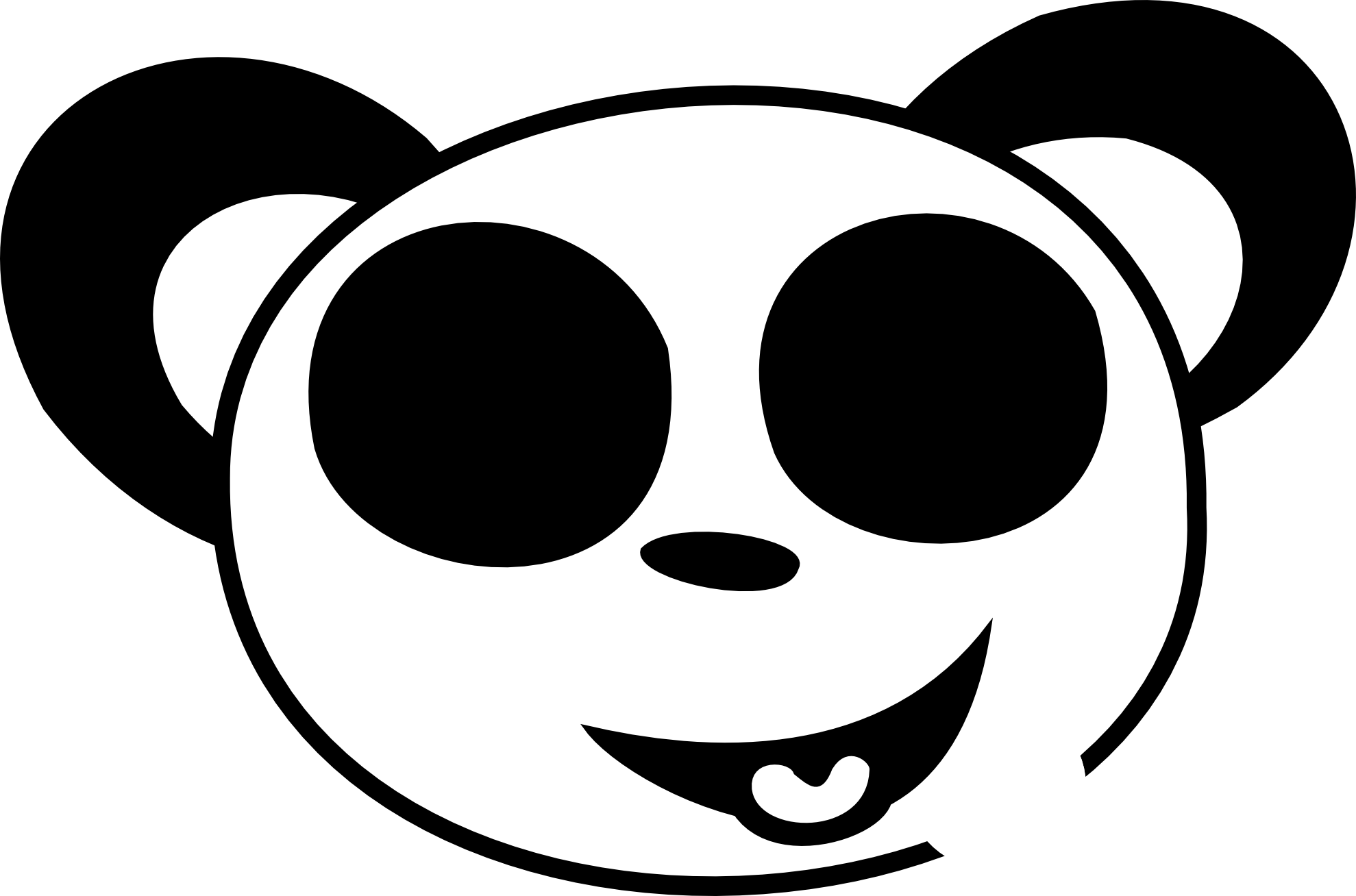 1979x1308 Panda clipart happy animal