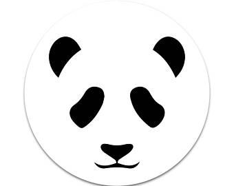 340x270 Panda face stickers Etsy