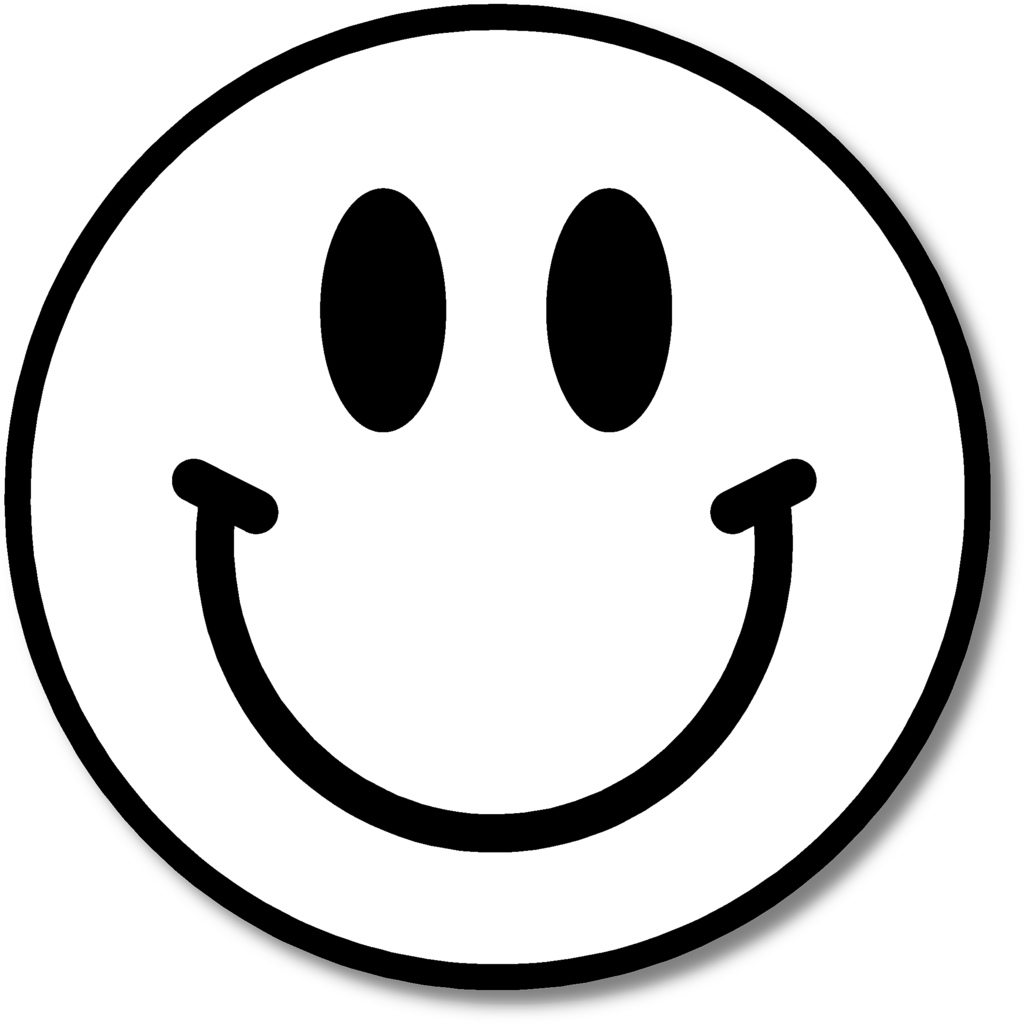 1024x1023 Smiley Face Clip Art Black And White